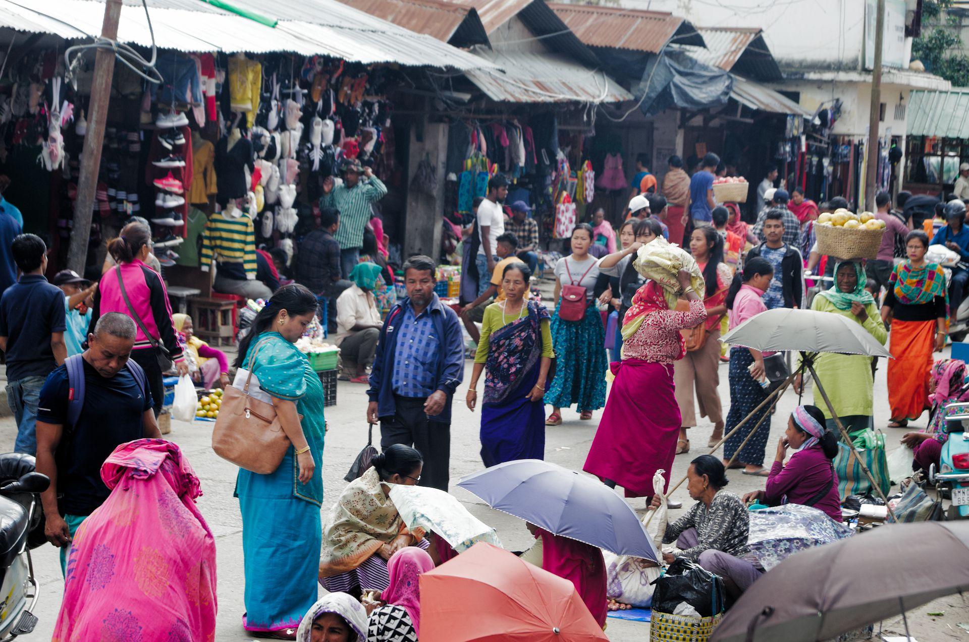 Auf dem Frauenmarkt in Imphal